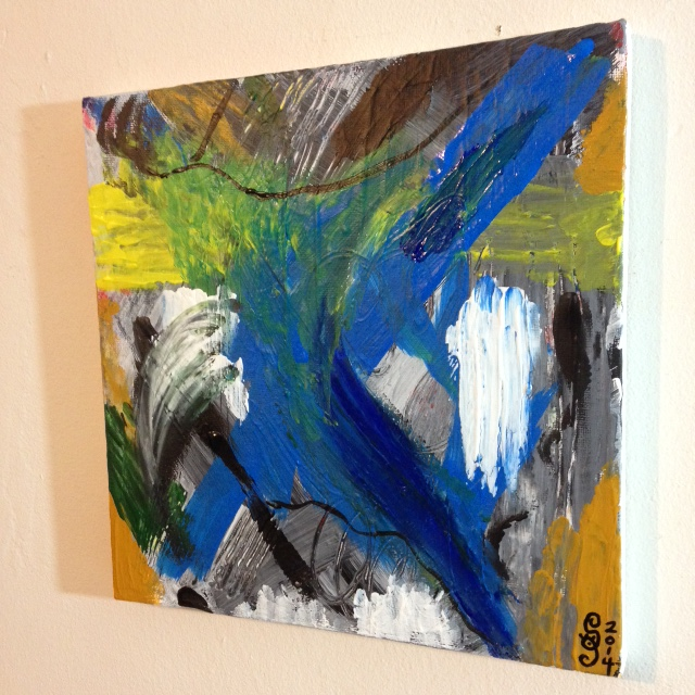 Side-View The Storm is Here- Tribute to Mary Abbott Linda Cleary 2014 Acrylic on Canvas