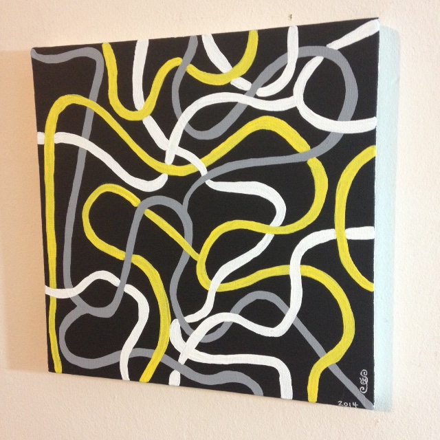 Side-View Electric- Tribute to Brice Marden Linda Cleary 2014 Acrylic on Canvas