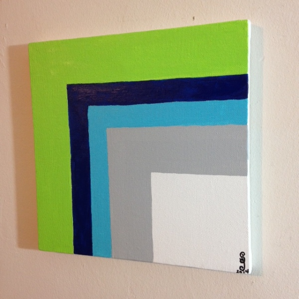 Side-View Untitled 46- Tribute to Josef Albers Linda Cleary 2014 Acrylic on Canvas