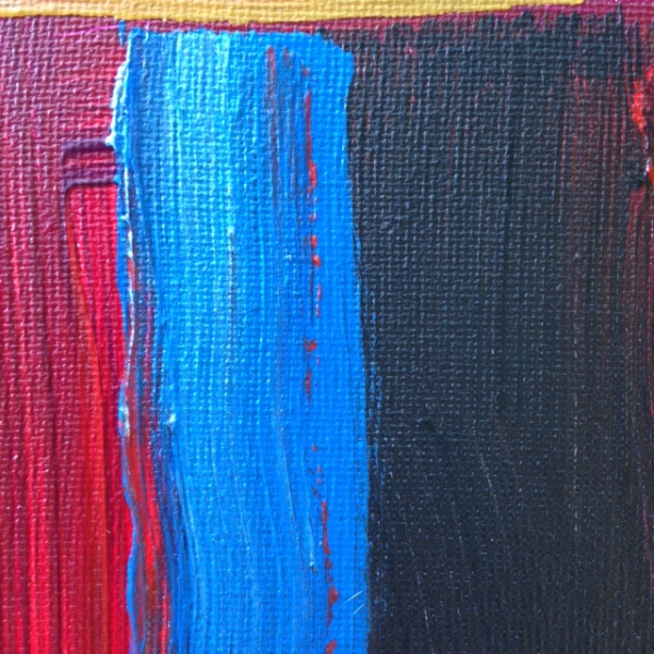 Close-Up 3 Keeping Calm- Tribute to Sir Howard Hodgkin Linda Cleary 2014 Acrylic on Canvas