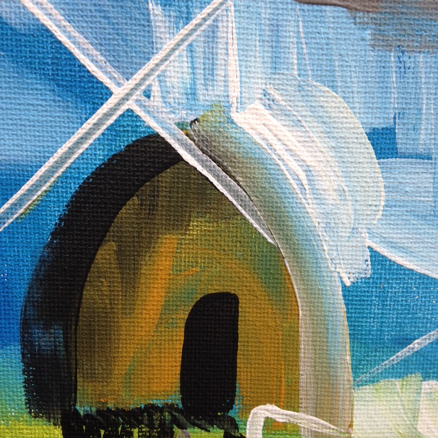 Close-Up 3 Windmill- Tribute to Peter Lanyon Linda Cleary- 2014 Acrylic on Canvas