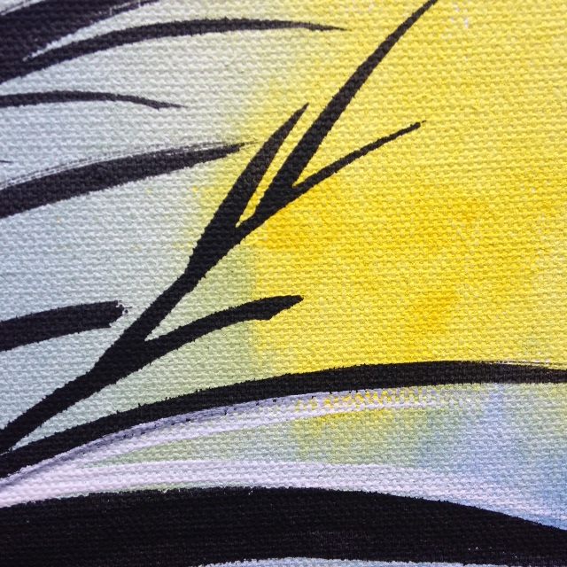Close Up 2 Untitled 52- Tribute to Hans Hartung Linda Cleary 2014 Acrylic on Canvas