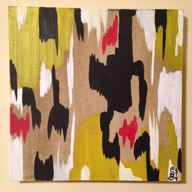 2014 D- Tribute to Clyfford Still Linda Cleary 2014 Acrylic on Canvas