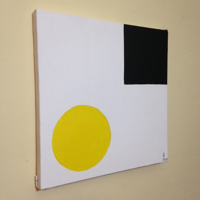 Side-View Yellow & Black- Tribute to Ellsworth Kelly Linda Cleary 2014 Acrylic on Canvas