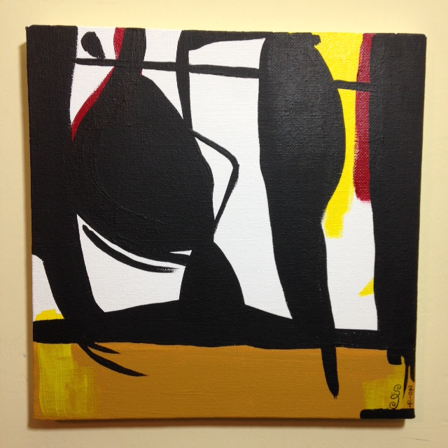 Recluse- Tribute to Robert Motherwell Linda Cleary 2014 Acrylic on Canvas