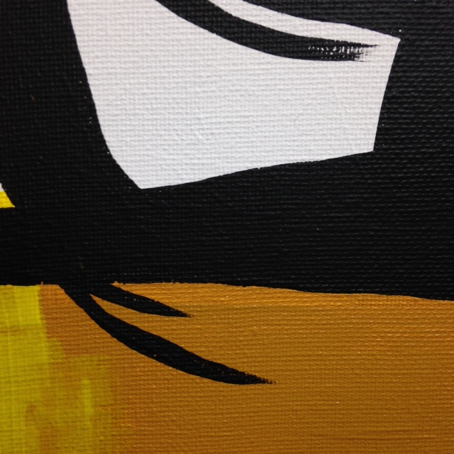 Close-Up 2 Recluse- Tribute to Robert Motherwell Linda Cleary 2014 Acrylic on Canvas
