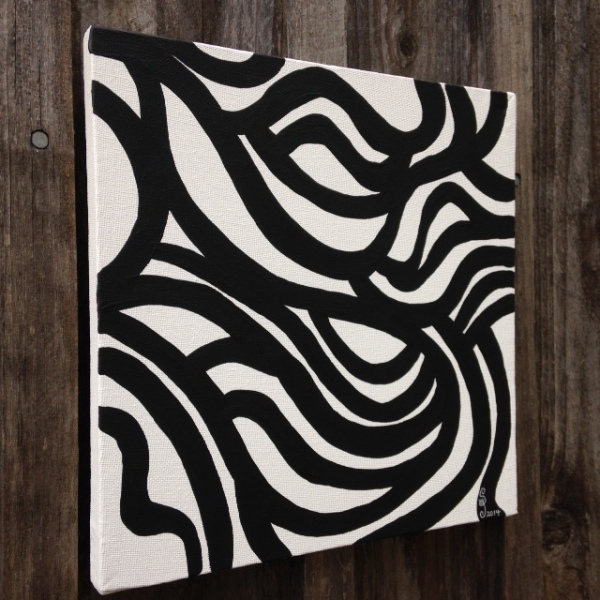Side-View Painting 35- Tribute to Sol LeWitt Linda Cleary 2014 Acrylic on Canvas