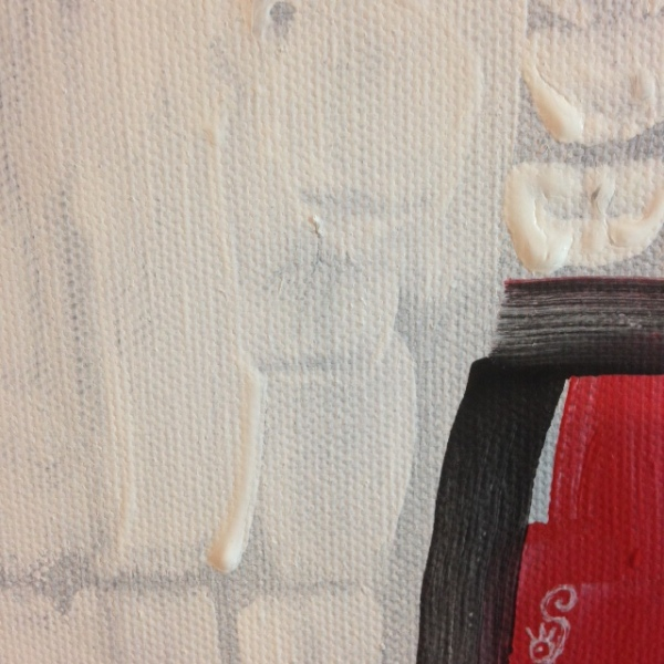 Close-Up 2 Untitled White 39- Tribute to Robert Ryman Linda Cleary 2014 Acrylic on Canvas