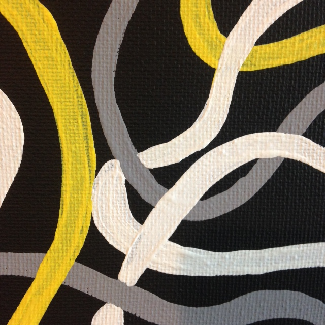 Close-Up 1 Electric- Tribute to Brice Marden Linda Cleary 2014 Acrylic on Canvas