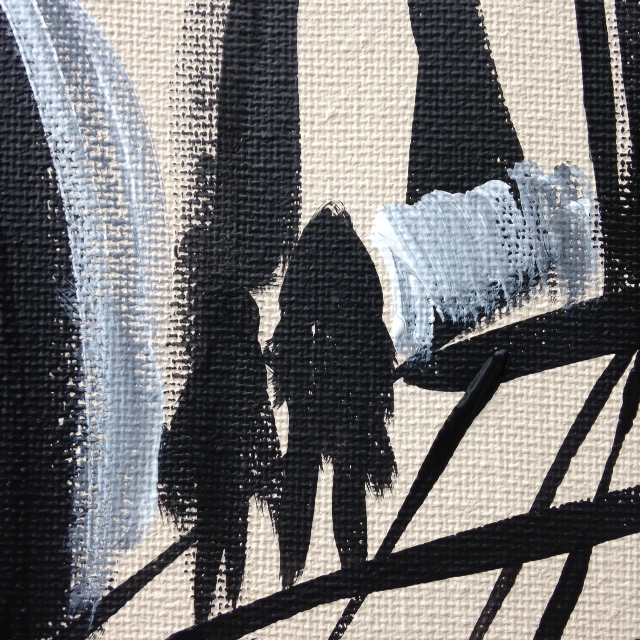 Close-Up 1 Painting Number 43- Tribute to Franz Kline Linda Cleary 2014 Acrylic on Canvas