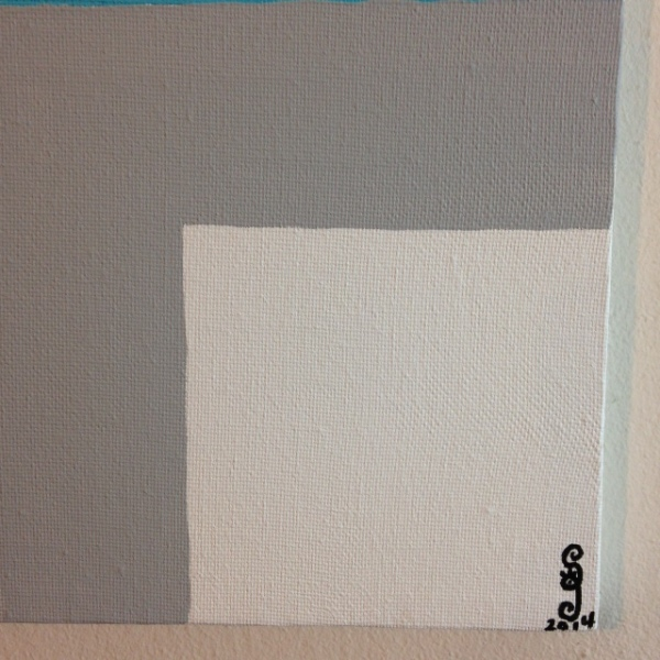 Close-Up 1 Untitled 46- Tribute to Josef Albers Linda Cleary 2014 Acrylic on Canvas