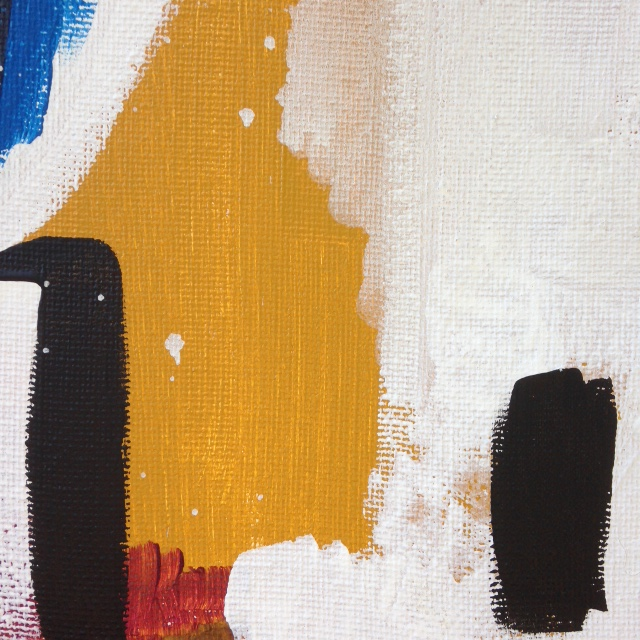 Close-Up 3 Abstract Distract- Tribute to Michael Goldberg Linda Cleary 2014 Acrylic on Canvas