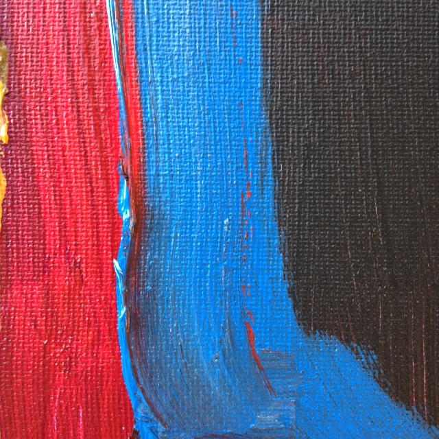Close-Up 1 Keeping Calm- Tribute to Sir Howard Hodgkin Linda Cleary 2014 Acrylic on Canvas