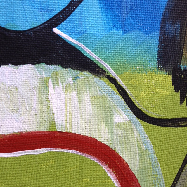 Close-Up 4 Windmill- Tribute to Peter Lanyon Linda Cleary- 2014 Acrylic on Canvas