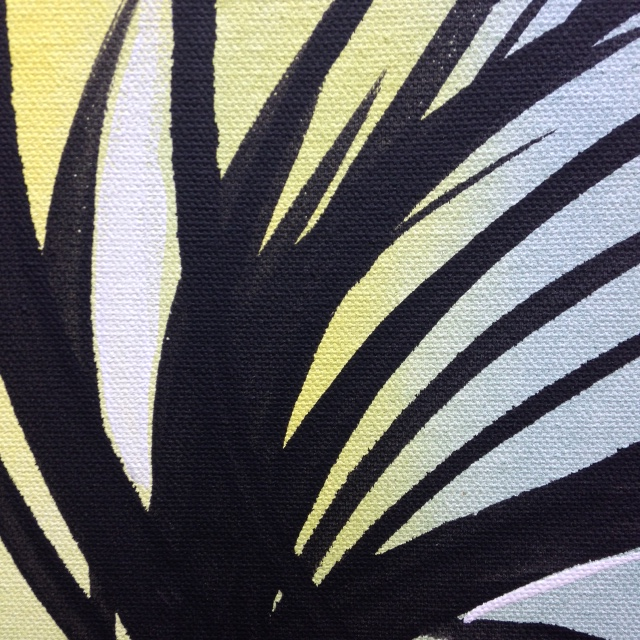 Close Up 3 Untitled 52- Tribute to Hans Hartung Linda Cleary 2014 Acrylic on Canvas