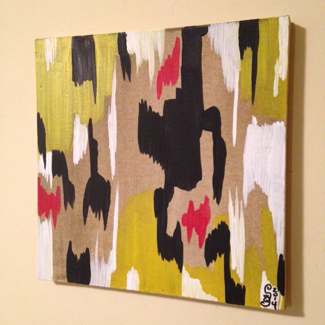 Side View 2014 D- Tribute to Clyfford Still Linda Cleary 2014 Acrylic on Canvas
