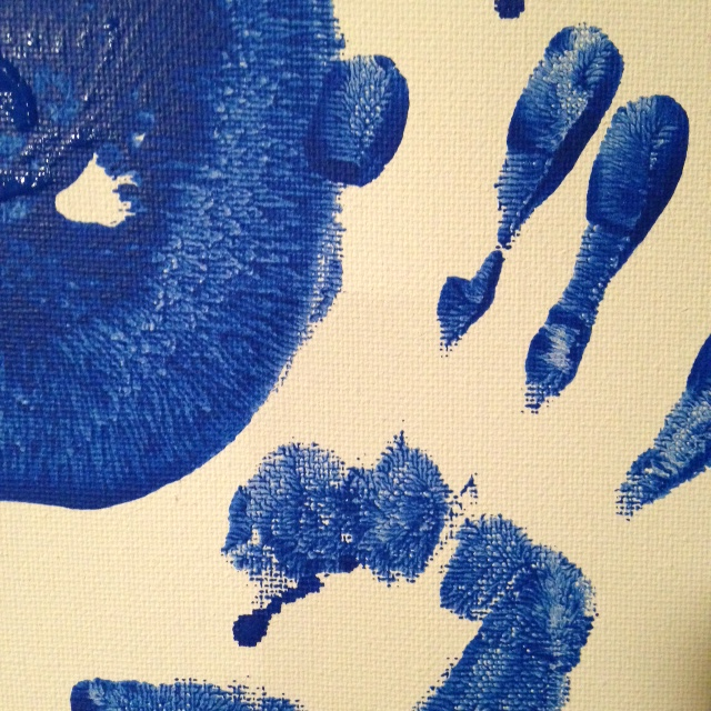 Close-Up 2 Mono-Boob- Tribute to Yves Klein Linda Cleary 2014 Acrylic on Canvas