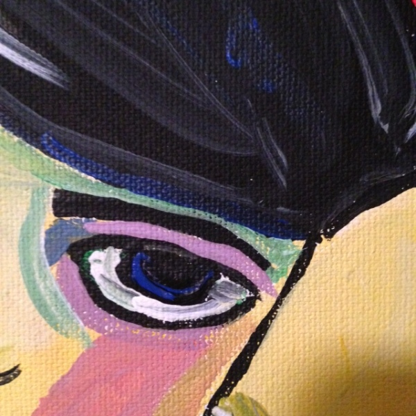 Close-Up 2 Self-Portrait- Tribute to Alexej von Jawlensky Linda Cleary 2014 Acrylic on Canvas