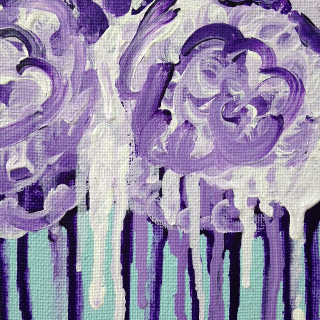 Close-Up 1 Roses and Venus- Tribute to Cy Twombly Linda Cleary 2014 Acrylic on Canvas