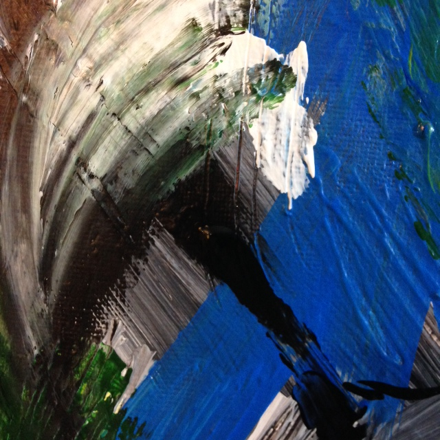 Close-Up 1 The Storm is Here- Tribute to Mary Abbott Linda Cleary 2014 Acrylic on Canvas