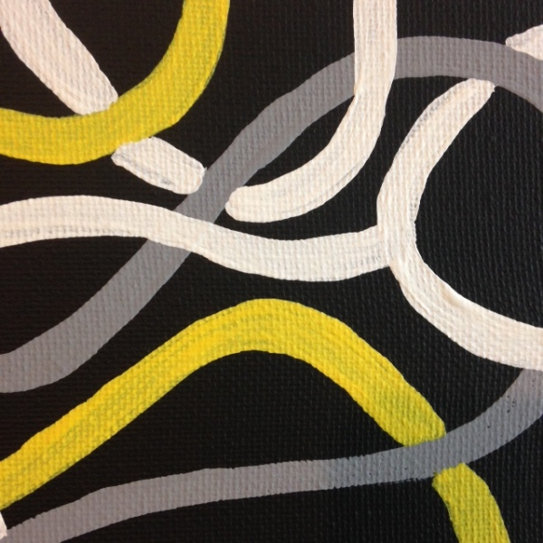 Close-Up 2 Electric- Tribute to Brice Marden Linda Cleary 2014 Acrylic on Canvas