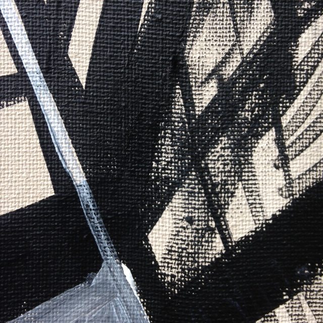 Close-Up 2 Painting Number 43- Tribute to Franz Kline Linda Cleary 2014 Acrylic on Canvas