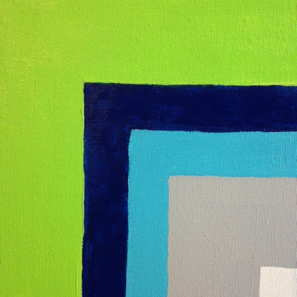 Close-Up 2 Untitled 46- Tribute to Josef Albers Linda Cleary 2014 Acrylic on Canvas