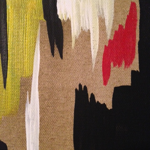 Close Up 1 2014 D- Tribute to Clyfford Still Linda Cleary 2014 Acrylic on Canvas