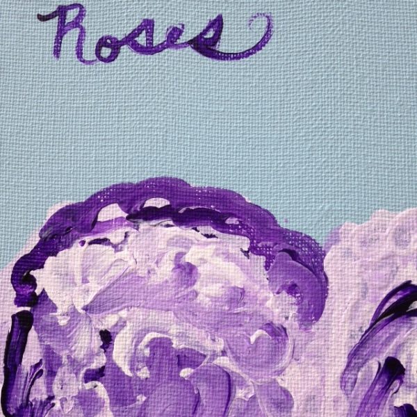 Close-Up 2 Roses and Venus- Tribute to Cy Twombly Linda Cleary 2014 Acrylic on Canvas