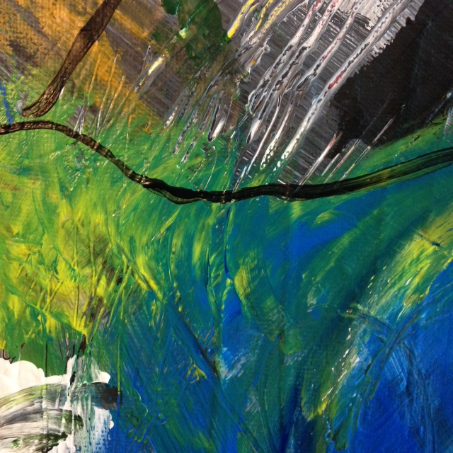Close-Up 2 The Storm is Here- Tribute to Mary Abbott Linda Cleary 2014 Acrylic on Canvas