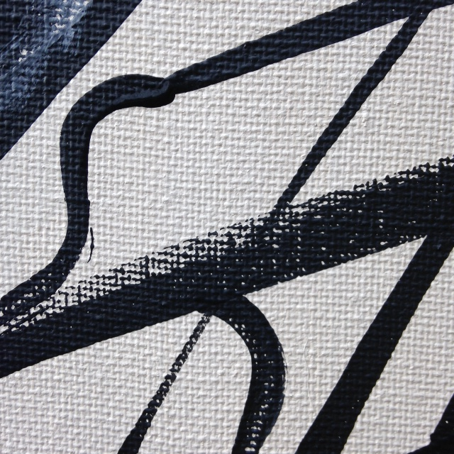Close-Up 3 Painting Number 43- Tribute to Franz Kline Linda Cleary 2014 Acrylic on Canvas
