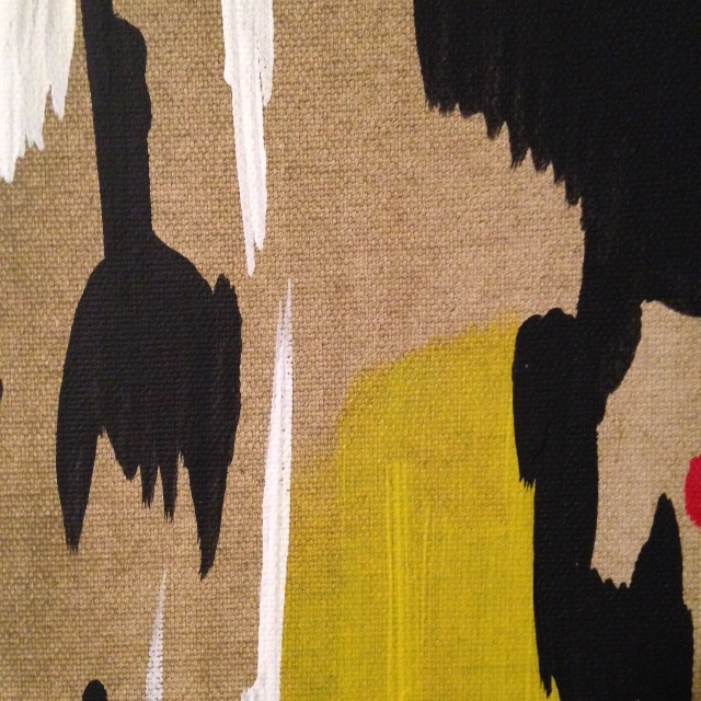 Close Up 2 2014 D- Tribute to Clyfford Still Linda Cleary 2014 Acrylic on Canvas