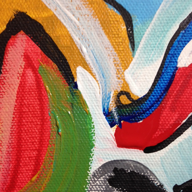 Close-Up 3 Two Women- Tribute to Willem De Kooning Linda Cleary 2014 Acrylic on Canvas