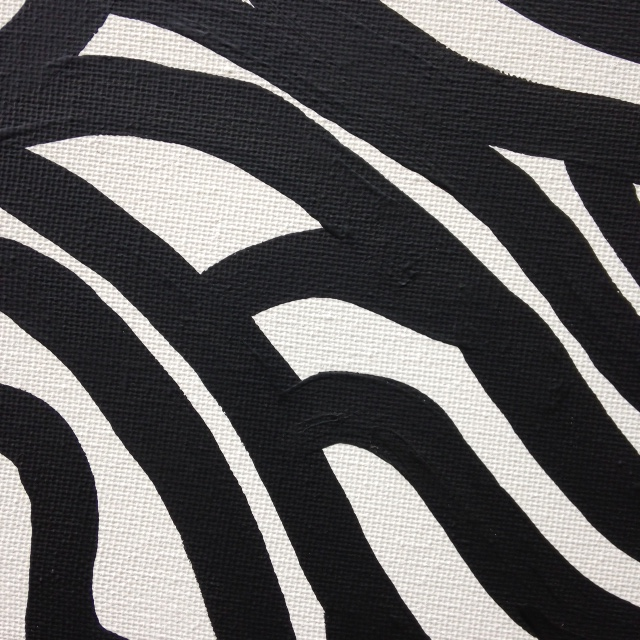 Close-Up 1 Painting 35- Tribute to Sol LeWitt Linda Cleary 2014 Acrylic on Canvas