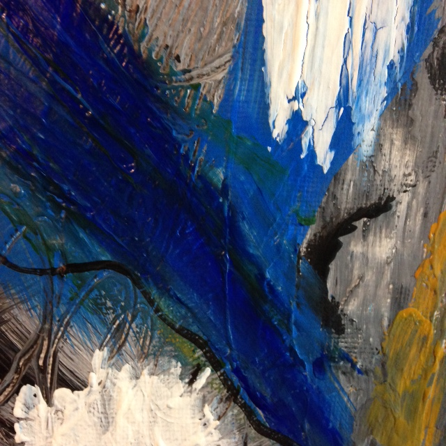 Close-Up 3 The Storm is Here- Tribute to Mary Abbott Linda Cleary 2014 Acrylic on Canvas