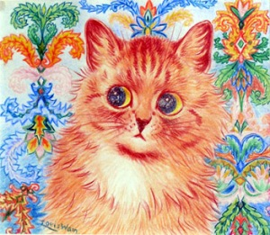 Louis Wain- A painting done after being diagnosed with schizophrenia.