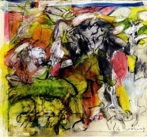 Figures in Landscape- Willem De Kooning