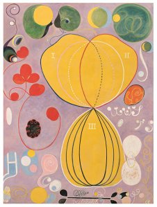 """Group IV, No. 7, Adulthood"" shows that Hilma af Klint was working with abstract imagery years before painters like Kandinsky. (NYtimes)"