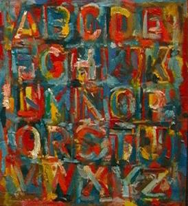 Colored Alphabet- Jasper Johns