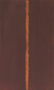 Barnett Newman- Example of a zip painting...