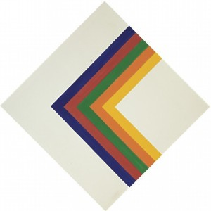 Kenneth Noland , b. 1924 Chevron 4 acrylic on canvas