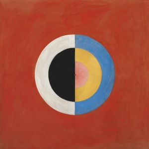 Svanen (The Svan), No. 17, Group IX, Series SUW, October 1914-March 1915. This abstract work was never exhibited during af Klint's lifetime.