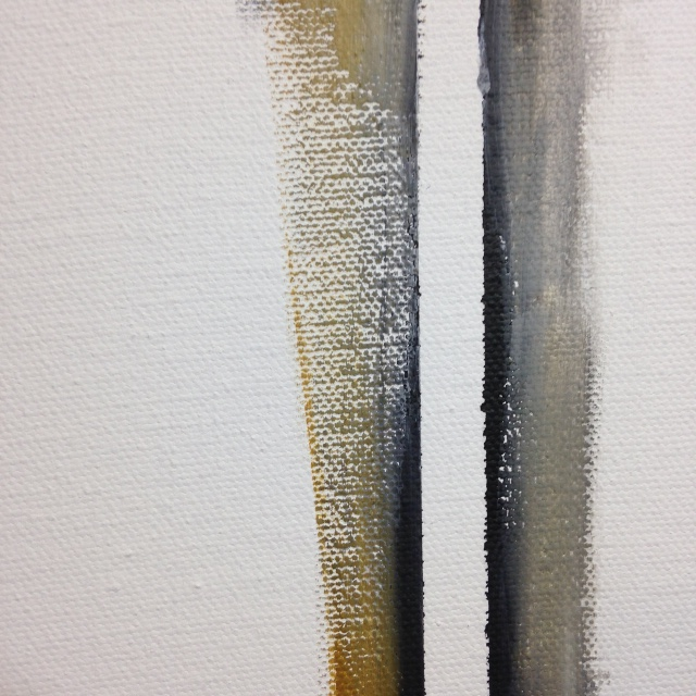 Close-Up 1 Double Zip- Tribute to Barnett Newman Linda Cleary 2014 Acrylic on Canvas