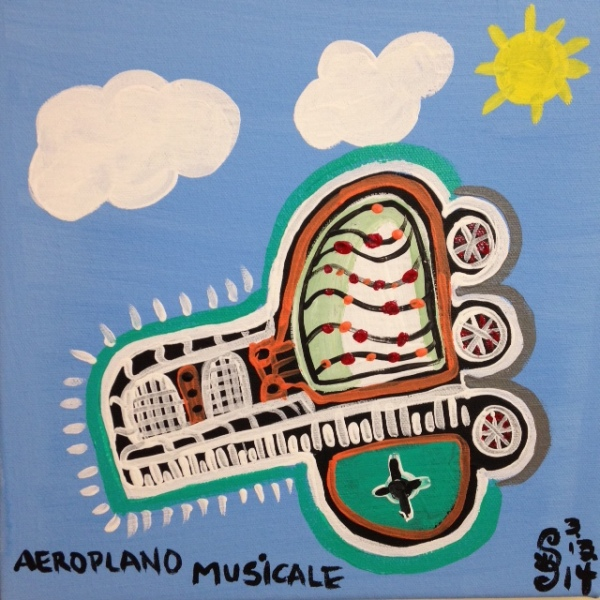 Aeroplano Musicale- Tribute to Tarcisio Merati Linda Cleary 2014 Acrylic on Canvas