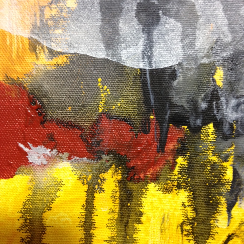 Close-Up 1 Untitled 75- Tribute to Michel Leah Keck Linda Cleary 2014 Acrylic on Canvas