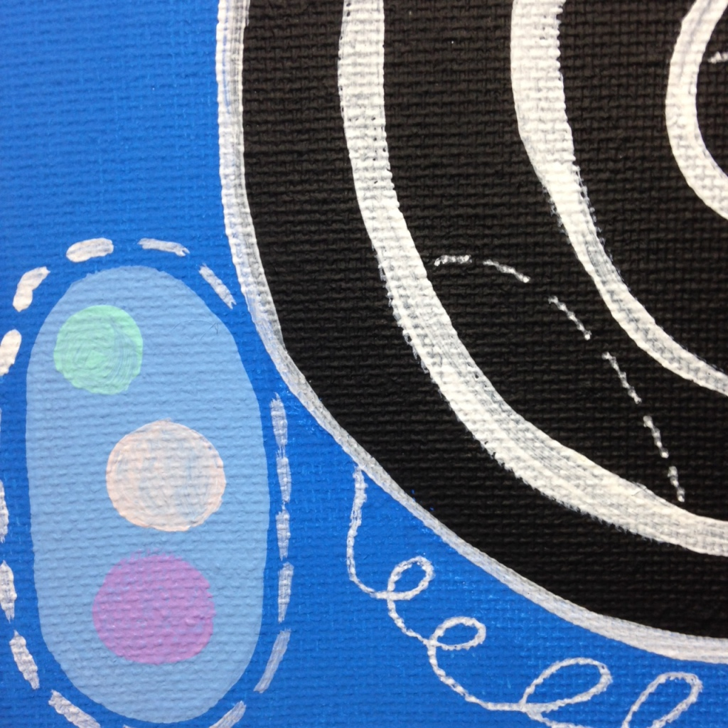 Close-Up 1 Anxioushood- Tribute to Hilma af Klint Linda Cleary 2014 Acrylic on Canvas