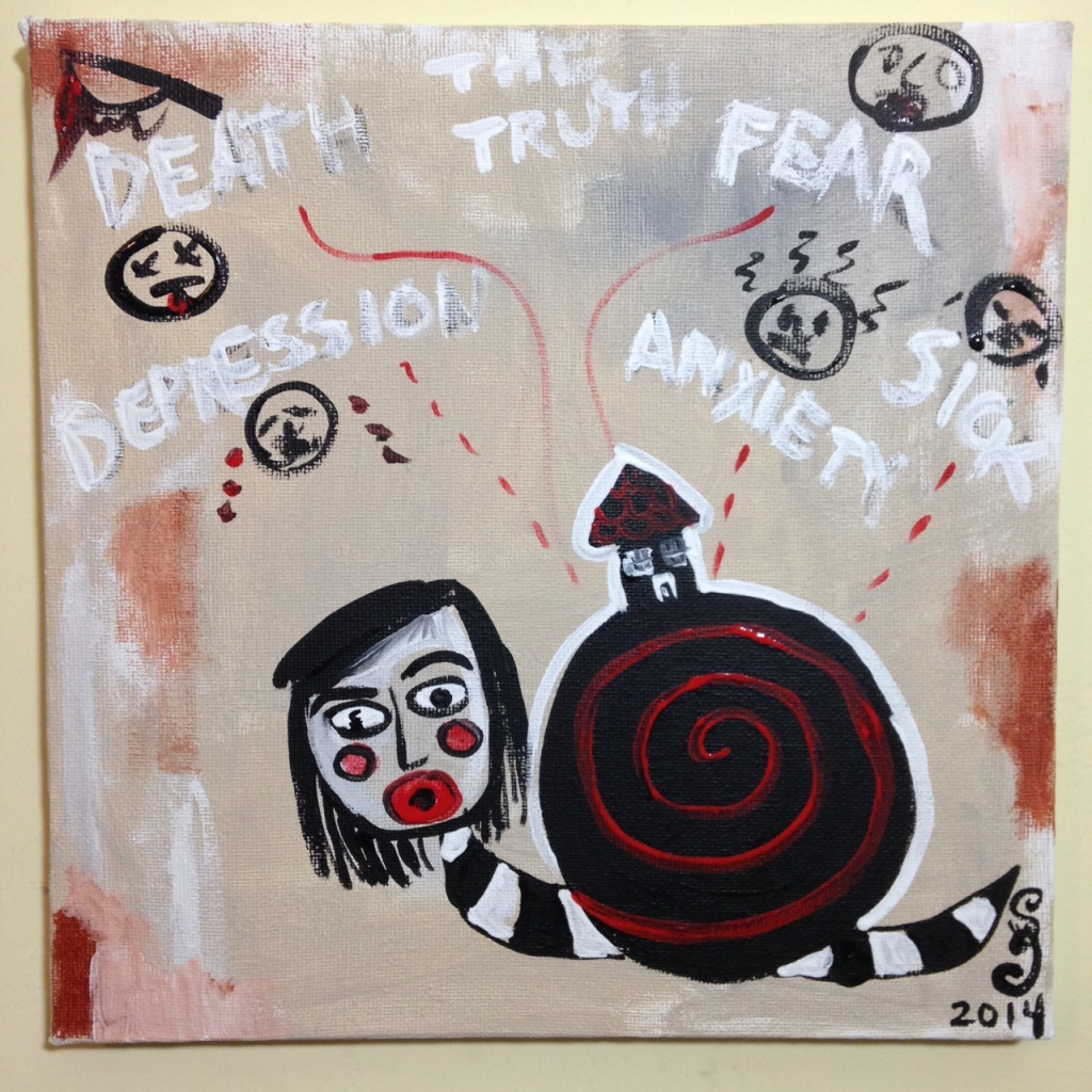 Welcome to my Home- Tribute to Alexandra Huber Linda Cleary 2014 Acrylic on Canvas
