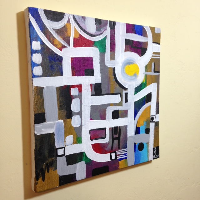 Side-View Number 62- Tribute to Bradley Walker Tomlin Linda Cleary 2014 Acrylic on Canvas