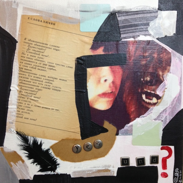 Yes Und?- Tribute to Kurt Schwitters Linda Cleary 2014 Mixed Media on Canvas