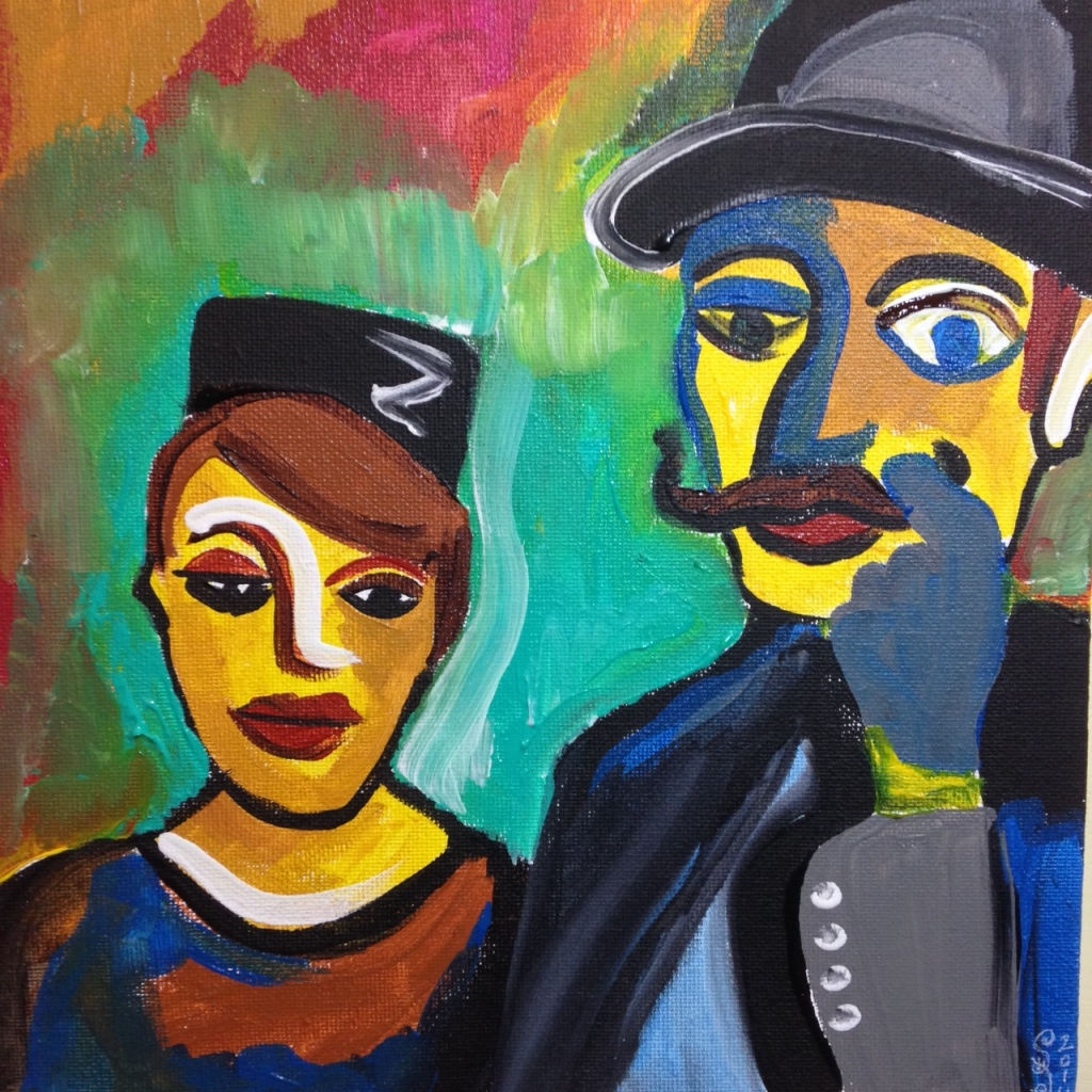 Olden Times- Tribute to Karl Schmidt-Rotluff Linda Cleary 2014 Acrylic on Canvas